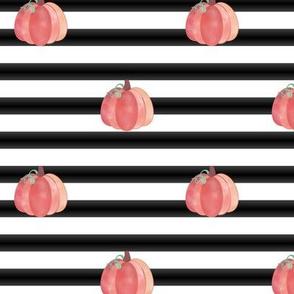 Mod watercolor pumpkin stripes