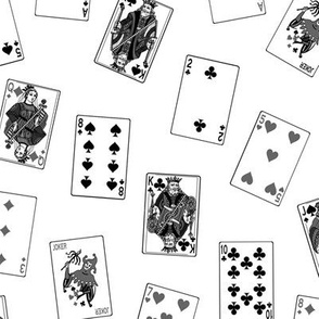 Scattered Playing Cards // Greyscale