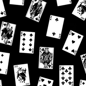 Scattered Playing Cards // Black & White