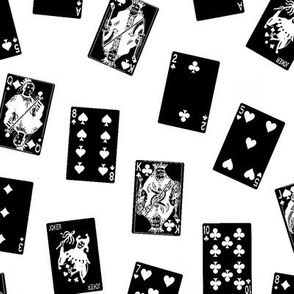 Scattered Black Playing Cards