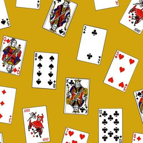 Scattered Playing Cards // Gold