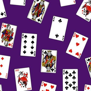 Scattered Playing Cards // Purple