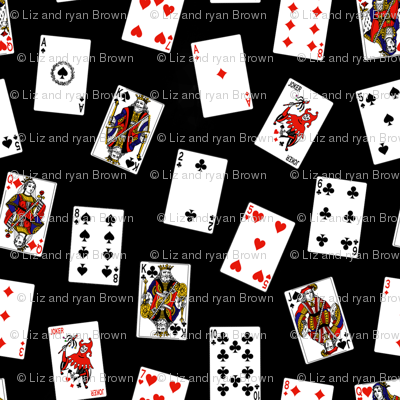 Scattered Playing Cards // Black