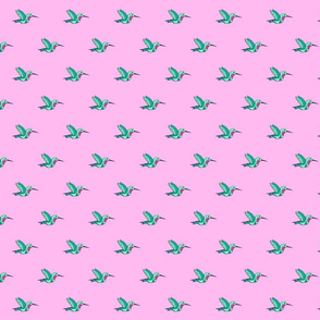 Pink hummingbirds