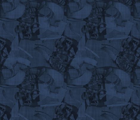 Nature Botanical Outdoor Worlds Grey Blue fabric by barbarapritchard on Spoonflower - custom fabric