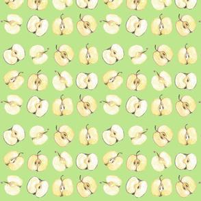 Apple halves by Anna green apatite