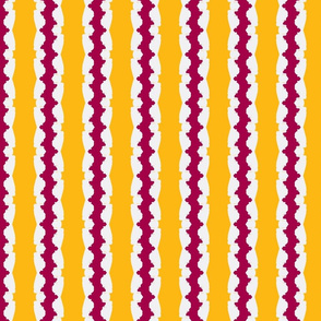 yellow white and red stripe