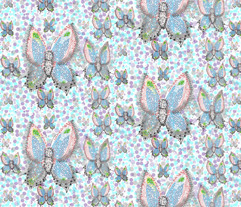 On Pointe Butterfiles fabric by gracelillydesigns on Spoonflower - custom fabric