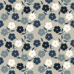 Elegant pattern with stylish flowers and leaves