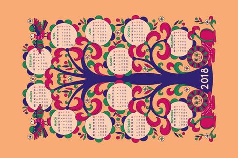 Tree Fertile 2018 Calendar fabric by olgart on Spoonflower - custom fabric