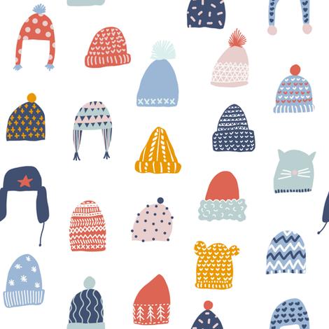 Winter hats fabric by tasiania on Spoonflower - custom fabric