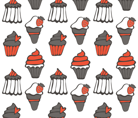 Sweets_pattern-04 fabric by olillia on Spoonflower - custom fabric