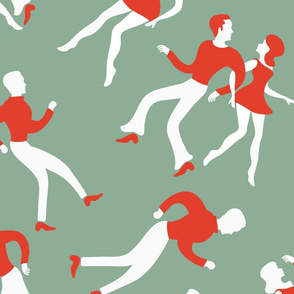 Dancing people pattern