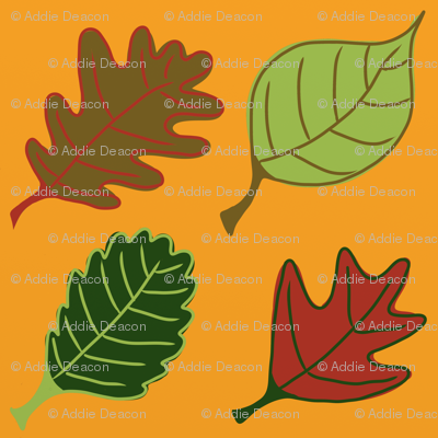 Graphic Leaves Gold
