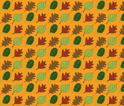 Graphic Leaves Gold fabric by addie_d on Spoonflower - custom fabric