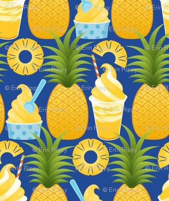 Pineapple Ice Cream - Dark Blue