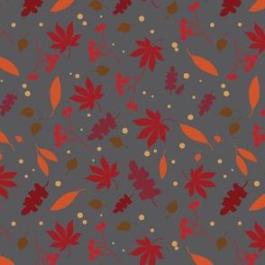 autumn leaves - grey