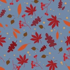 autumn leaves - blue