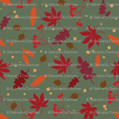 autumn leaves - green