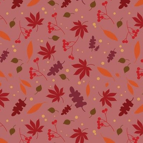 autumn leaves - pink
