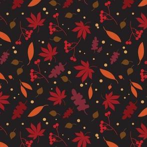 autumn leaves - black