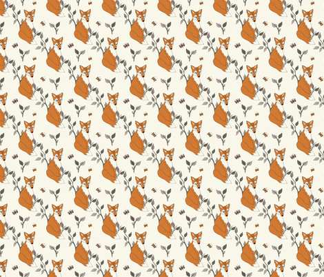Diagonal Fox - Rust, Ivory … woodland, baby, nursery decor, fox fabric by fernlesliestudio on Spoonflower - custom fabric