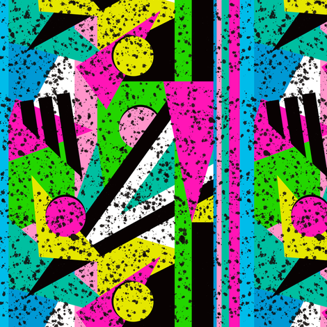80's Shape Splatter fabric by elliottdesignfactory on Spoonflower - custom fabric