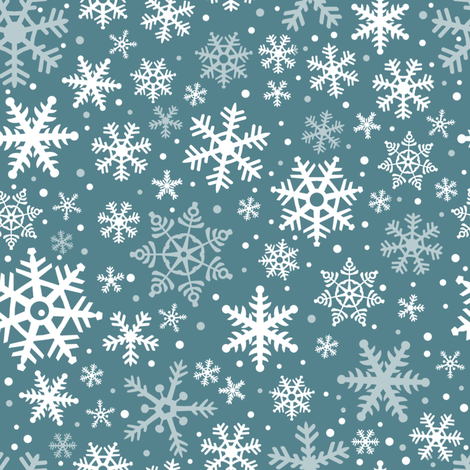 Snowflakes - Dusk fabric by ejrippy on Spoonflower - custom fabric