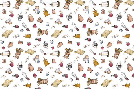 Grandma´s Apple Pie fabric by angieguarin on Spoonflower - custom fabric