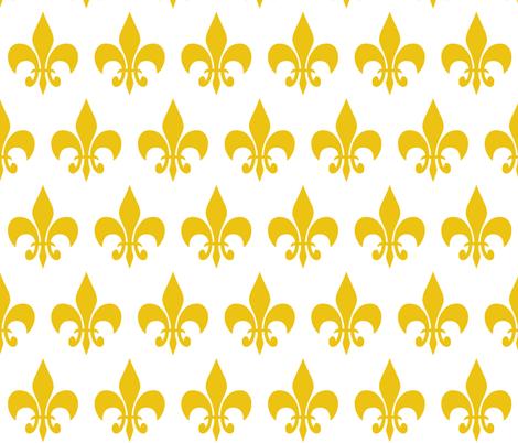 Fleur_de_lis_Gold fabric by shortcake_studio on Spoonflower - custom fabric