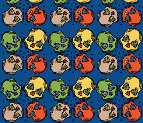 Skull Party fabric by inkysunshine on Spoonflower - custom fabric