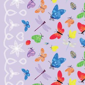 InsectWatercolourWallPurple1