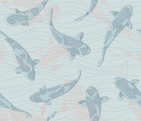 spotted dotted under water fabric by lilalunis on Spoonflower - custom fabric