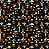 Cake pattern with dark background