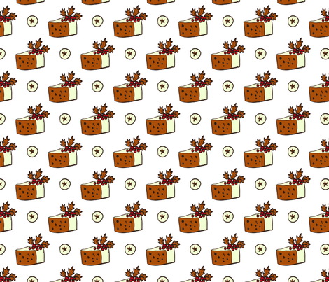 Holiday Cake fabric by webvilla on Spoonflower - custom fabric