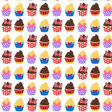 Cupcake Parade fabric by ejrippy on Spoonflower - custom fabric