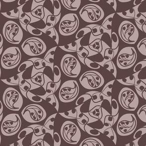 paisley in rose brown