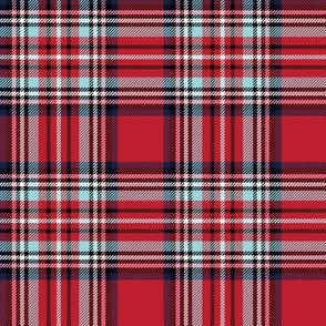 christmas knit tartan red