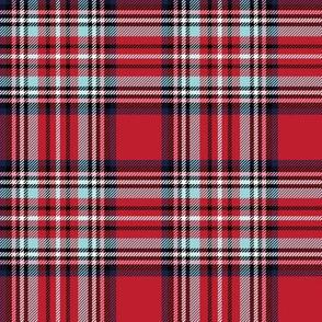 christmas knit tartan red