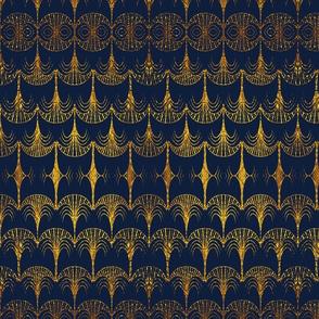art deco palm royal gold