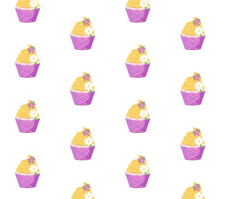 Purple Princess Cupcakes - LARGE fabric by ejrippy on Spoonflower - custom fabric
