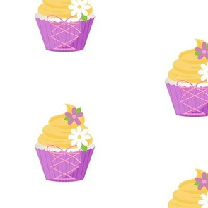 Purple Princess Cupcakes - LARGE