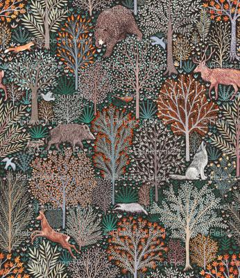 Forest animals - Les animaux de la fôret - SMALL