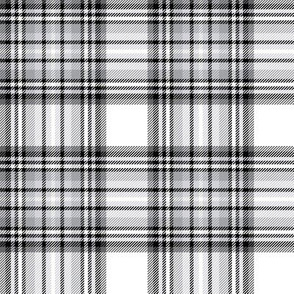 mod baby tartan grey on white