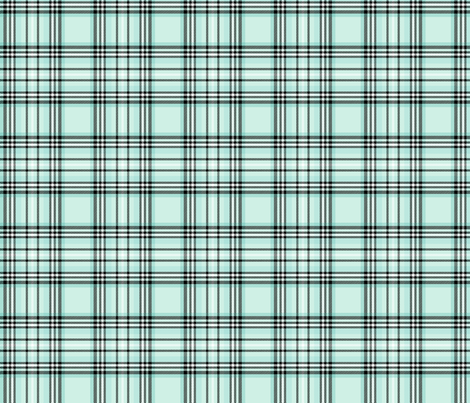 mod baby tartan mint fabric by misstiina on Spoonflower - custom fabric