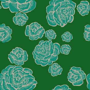 boho lounge rose - muted green