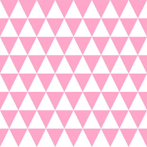 one inch white and carnation pink triangles wallpaper