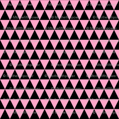 Half Inch Black and Carnation Pink Triangles