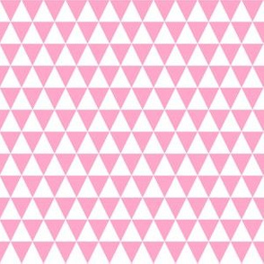 Half Inch White and Carnation Pink Triangles
