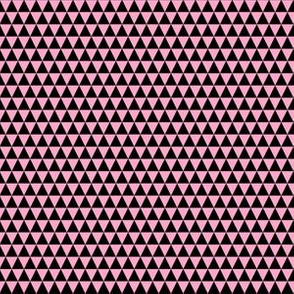 Quarter Inch Black and Carnation Pink Triangles